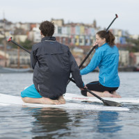 Stand up paddleboarding (SUP) lesson in Bristol Harbour